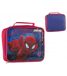 BOLSITO ESCOLAR MERIENDA SPIDER-MAN RELIEVE 3D