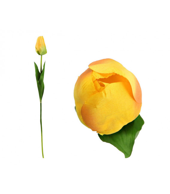FLOR ARTIFICIAL ROSA COLOR AMARILLO UNIDAD 8 CM