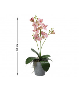 FLOR ARTIFICIAL ROSA COLOR BLANCO UNIDAD LARGO 30 CM