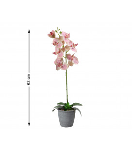 FLOR ARTIFICIAL ROSA COLOR ROSA UNIDAD 8 CM LAR 50 CM