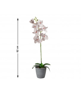 FLOR ARTIFICIAL ROSA COLOR CHAMPAGNE UNIDAD 8CM
