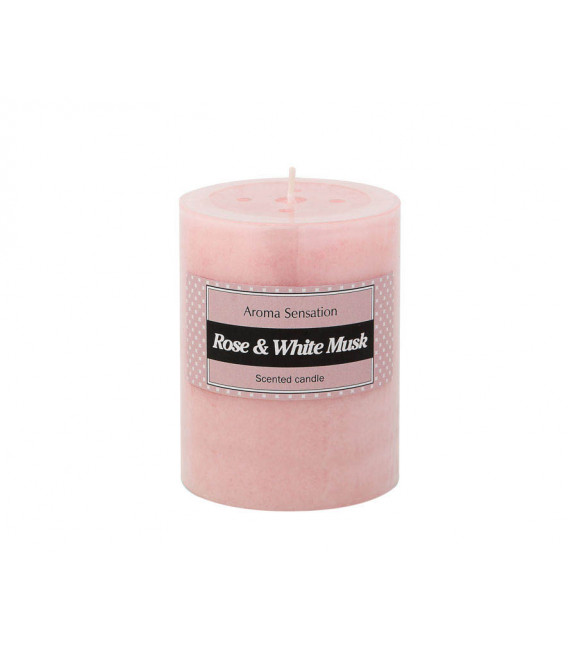 RAMA ARTIFICIAL CON 5 ROSAS COLOR CREMA UNIDAD 8 CM