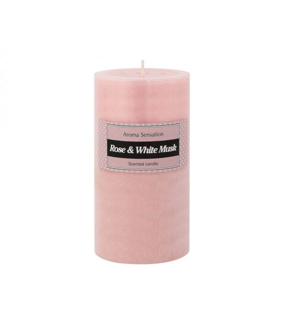 MACETERO CON FLOR ARTIFICIAL ORQUIDEA COLOR ROSA DE 62 CM