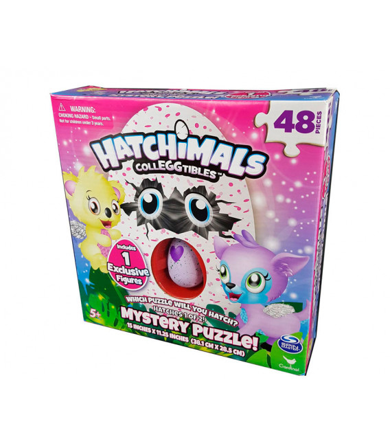 HATCHIMALS MYSTERY PUZZLE + 1 FIGURA