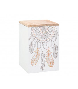 CUADRO YOUR VIBE ATTRACTS YOUR TRIBE 21,3*21,3*2,5 CM
